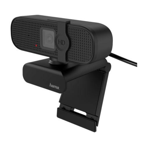 Hama C-400 FHD Webcam with Mic, 1080p, 30fps, Closable Lens, 360� Swivel Range, 70� Visual Angle