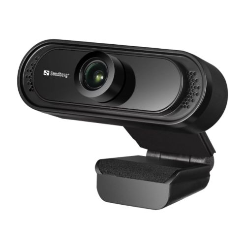 Sandberg USB FHD 2MP Webcam with Mic, 1080p, 30fps, Glass Lens, 60�, Clip-on/Stand, 5 Year Warranty