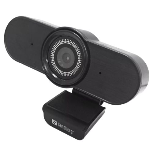 Sandberg USB AutoWide FHD Webcam with Mic, 1080p, 30fps, Glass Lens, Auto Adjusting, 90� Viewing Angle, 5 Year Warranty