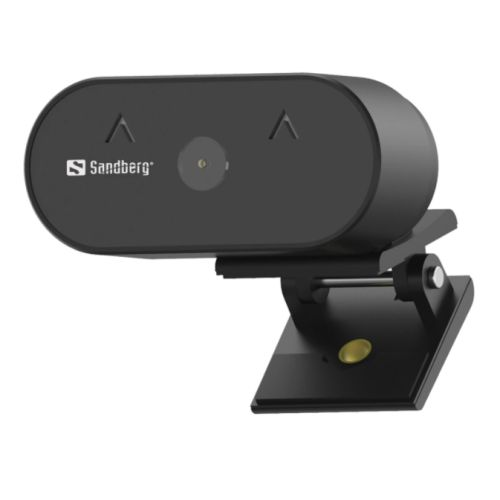 Sandberg USB FHD Wide Angle Webcam with Mic, 2MP, 30fps, Glass Lens, Auto Adjusting, 120� Viewing Angle, 5 Year Warranty