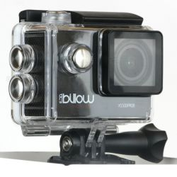 Billow XS500 Action Camera, Black, 1080p, 12MP, Waterproof, WiFi, Mic and Speaker, LCD