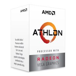 AMD Athlon 3000G CPU, AM4, 3.5GHZ, Dual Core, 35W, 4MB Cache, 14nm, 3rd Gen, VEGA 3 Graphics, Picasso, NO HEATSINKFAN