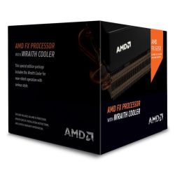 AMD FX-6350 CPU with Wraith Cooler, AM3+, 3.9GHz, 6-Core, 125W, 8MB Cache, 32nm, Black Edition
