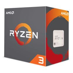 AMD Ryzen 3 1300X CPU with Wraith Cooler, AM4, 3.5GHz 3.7 Turbo, Quad Core, 65W, 10MB Cache, 14nm, No Graphics, Summit Ridge