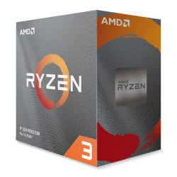 AMD Ryzen 3 3100 CPU with Wraith Stealth Cooler, AM4, 3.6GHz 3.9 Turbo, Quad Core, 65W, 18MB Cache, 7nm, 3rd Gen, No Graphics, Matisse