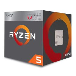 AMD Ryzen 5 2400G CPU with Wraith Cooler, AM4, 3.6GHz, Quad Core, 65W, 6MN Cache, 14nm, 2nd Gen, VEGA 11 Graphics