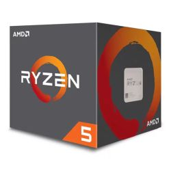AMD Ryzen 5 2600X CPU with Wraith Cooler, AM4, 3.6 GHz 4.2 Turbo, 6-Core, 95W, 19MB Cache, 12nm, 2nd Gen, No Graphics, Pinnacle Ridge