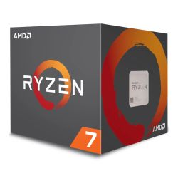 AMD Ryzen 7 2700 CPU with Wraith Cooler, AM4, 3.2GHz (4.1 Turbo), 8-Core, 65W, 20MB Cache, 12nm, RGB Lighting, 2nd Gen, No Graphics, Pinnacle Ridge