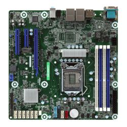 Asrock Rack C246M WS Server Board, Intel C246, 1151, Micro ATX, VGA, HDMI, DP, Dual GB LAN, Serial Port