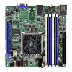 Asrock Rack D1541D4I Server Board, Integrated Xeon D1541 CPU, Mini ITX, VGA, Dual GB LAN, Serial Port, IPMI LAN, M.2
