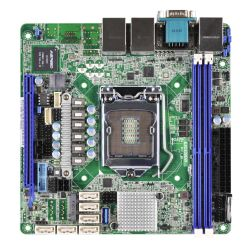 Asrock Rack E3C232D2I Server Board, Intel C232, 1151, Mini ITX, DDR4, VGA, Dual GB LAN, IPMI LAN, Serial Port, M.2