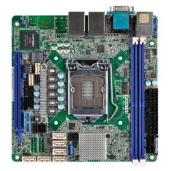 Asrock Rack E3C236D2I Server Board, Intel C236, 1151, Mini ITX, DDR4, Dual GB LAN, IPMI LAN, Serial Port, M.2