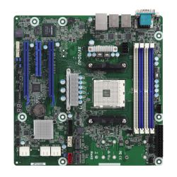 Asrock Rack X470D4U Server Board, AMD X470, AM4, Micro ATX, VGA, 6 x SATA, Dual GB LAN, IPMI, Serial Port