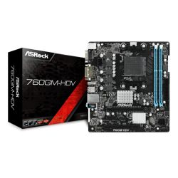 Asrock 760GM-HDV, AMD 760G, AM3+, Micro ATX, 2 DDR3, VGA, DVI, HDMI, 125W CPU Support
