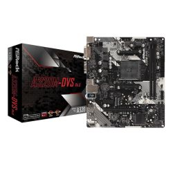 Asrock A320M-DVS R4.0, AMD A320, AM4, Micro ATX, 2 DDR4, VGA, DVI