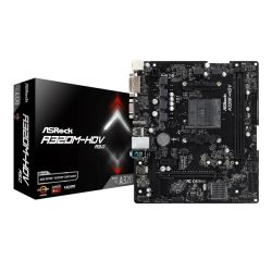 Asrock A320M-HDV R3.0, AMD A320, AM4, Micro ATX, 2 DDR4, VGA, DVI, HDMI, M.2