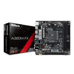 Asrock A320M-ITX, AMD A320, AM4, Mini ITX, 2 DDR4, 2 HDMI, M.2