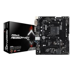 Asrock AB350M-HDV R4.0, AMD B350, AM4, Micro ATX, 2 DDR4, VGA, DVI, HDMI, M.2