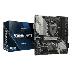 Asrock B365M PRO4, Intel B365, 1151, Micro ATX, 4 DDR4, CrossFire, VGA, DVI, HDMI, M.2, RGB Lighting