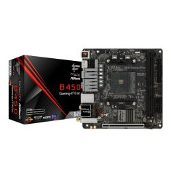Asrock B450 GAMING-ITX/AC, AMD B450, AM4, Mini ITX, 2 DDR4, HDMI, DP, Wi-Fi, RGB Lighting, M.2