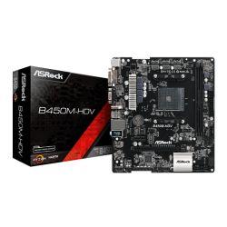 Asrock B450M-HDV, AMD B450, AM4, Micro ATX, 2 DDR4, VGA, DVI, HDMI, M.2