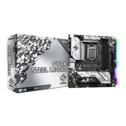 Asrock B460M STEEL LEGEND, Intel B460, 1200, Micro ATX, 4 DDR4, HDMI, DP, XFire, 2.5GB LAN, RGB Lighting, M.2