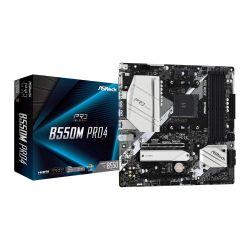 Asrock B550M PRO4, AMD B550, AM4, Micro ATX, 4 DDR4, VGA, HDMI, DP, XFire, PCIe4, M.2
