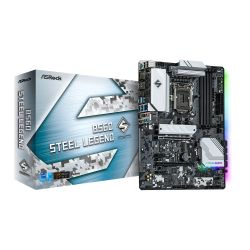Asrock B560 STEEL LEGEND, Intel B560, 1200, ATX, 4 DDR4, HDMI, DP, 2.5G LAN, RGB, 3x M.2