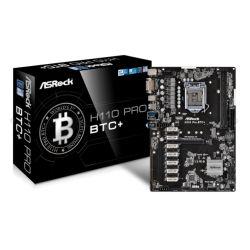 Asrock H110 PRO BTC+, Intel H110, 1151, ATX, DDR4, DVI, M.2, 12 x PCIe2.0 x1