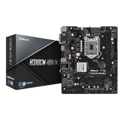 Asrock H310CM-HDV/M.2, Intel H310, 1151, Micro ATX, DDR4, VGA, DVI, HDMI, M.2