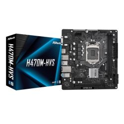 Asrock H470M-HVS, Intel H470, 1200, Micro ATX, 2 DDR4, VGA, HDMI