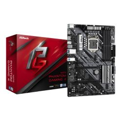 Asrock H470 PHANTOM GAMING 4, Intel H470, 1200, ATX, 4 DDR4, XFire, HDMI, DP, RGB Lighting, M.2