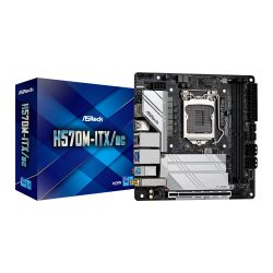 Asrock H570M-ITX/AC, Intel H570, 1200, Mini ITX, 2 DDR4, HDMI, DP, GB & 2.5G LAN, AC Wi-Fi , 2x M.2