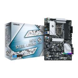 Asrock H570 STEEL LEGEND, Intel H570, 1200, ATX, 4 DDR4, XFire, HDMI, DP, 2.5G LAN, RGB, 3x M.2