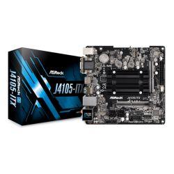 Asrock J4105-ITX, Integrated Intel Quad-Core J4105, Mini ITX, DDR4 SODIMM, VGA, DVI, HDMI, M.2