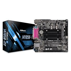 Asrock J4105B-ITX, Integrated Intel Quad-Core J4105, Mini ITX, DDR4 SODIMM, VGA, HDMI, Serial & Parallel Port