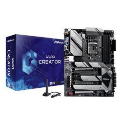 Asrock W480 CREATOR, Intel W480, 1200 (Xeon W CPUs), ATX, HDMI, XFire, GB & 2.5G LAN, Thunderbolt3, AX Wi-Fi, 10GB & 2.5GB LAN, M.2