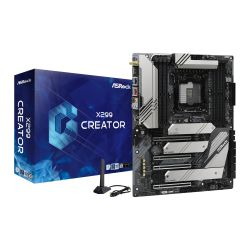Asrock X299 CREATOR, Intel X299, 2066, ATX, DDR4, NVLink, SLI/XFire, Wi-Fi, Dual LAN (1 x 10GB), TB 3 Type-C, 3x M.2