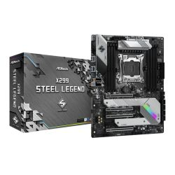 Asrock X299 STEEL LEGEND, Intel X299, 2066, ATX, 8 DDR4, SLI/XFire, Dual LAN, RGB Lighting, M.2
