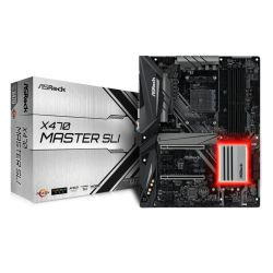 Asrock X470 MASTER SLI, AMD X470, AM4, ATX, DDR4, HDMI, SLI/XFire, Dual M.2, RGB Lighting
