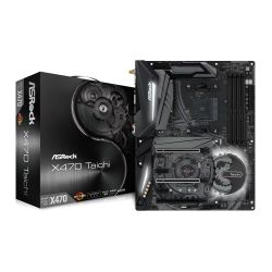 Asrock X470 TAICHI, AMD X470, AM4, ATX, DDR4, HDMI, SLI/XFire, Wi-Fi, RGB Lighting