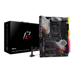 Asrock X570 Phantom Gaming X, AMD X570, AM4, ATX, 4 DDR4, HDMI, SLI/XFire, Wi-Fi, 2.5GB LAN, PCIe4, RGB Lighting, M.2