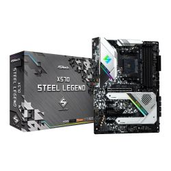 Asrock X570 STEEL LEGEND, AMD X570, AM4, ATX, 4 DDR4, HDMI, DP, XFire, RGB Lighting, PCIe4, Rock-Solid Durability, M.2
