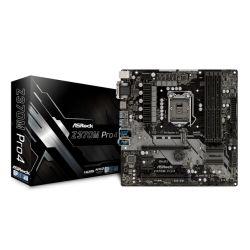 Asrock Z370M PRO4, Intel Z370, 1151, Micro ATX, DDR4, CrossFire, VGA, DVI, HDMI, M.2