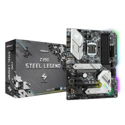 Asrock Z390 STEEL LEGEND, Intel Z390, 1151, ATX, XFire, HDMI, DP, USB 3.2, RGB Lighting, Rock-Solid Durability, M.2