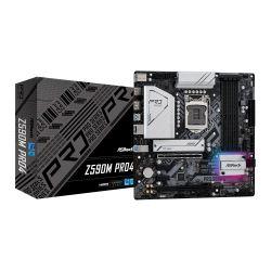 Asrock Z590M PRO4, Intel Z590, 1200, Micro ATX, 4 DDR4, XFire, HDMI, DP, RGB, 2x M.2