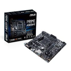 Asus PRIME A320M-E, AMD A320, AM4, Micro ATX, 2 DDR4, VGA, DVI, HDMI, M.2, RAID, LED Lighting