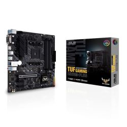 Asus TUF GAMING A520M-PLUS, AMD A520, AM4, Micro ATX, 4 DDR4, VGA, DVI, HDMI, M.2
