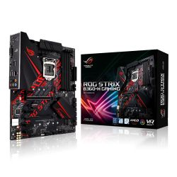 Asus ROG STRIX B360-H GAMING, Intel B360, 1151, ATX, DDR4, DVI, HDMI, XFire, Dual M.2, RGB Lighting