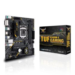 Asus TUF B360M-E GAMING, Intel B360, 1151, Micro ATX, DDR4, DVI, HDMI, RGB Lighting, M.2